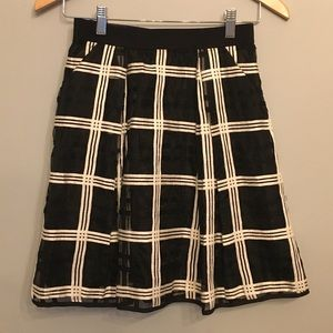 Milly Minis black and white skirt